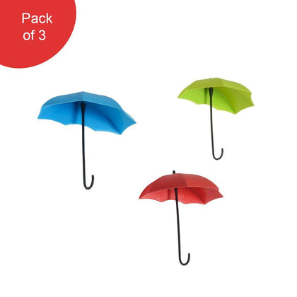 3pcs/set Cute Umbrella Wall Mount Key Holder Wall Hook Hanger Organizer Durable Wall hooks bathroom kitchen Umbrella Wall Hook