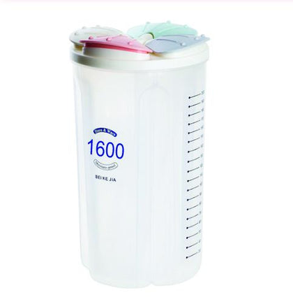 4 in 1 Transparent Air Tight Storage Dispenser Container (1600 ml)