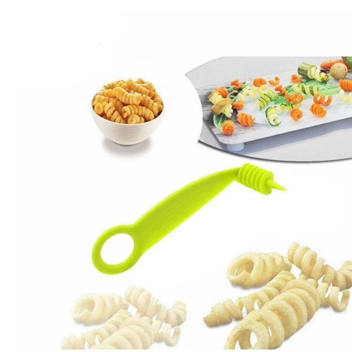 Kitchen Plastic Vegetables Spiral Cutter / Spiral Knife / Spiral Screw Slicer