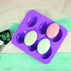 Silicon 6 Cavity Non Stick Oval Shape Mould Tray