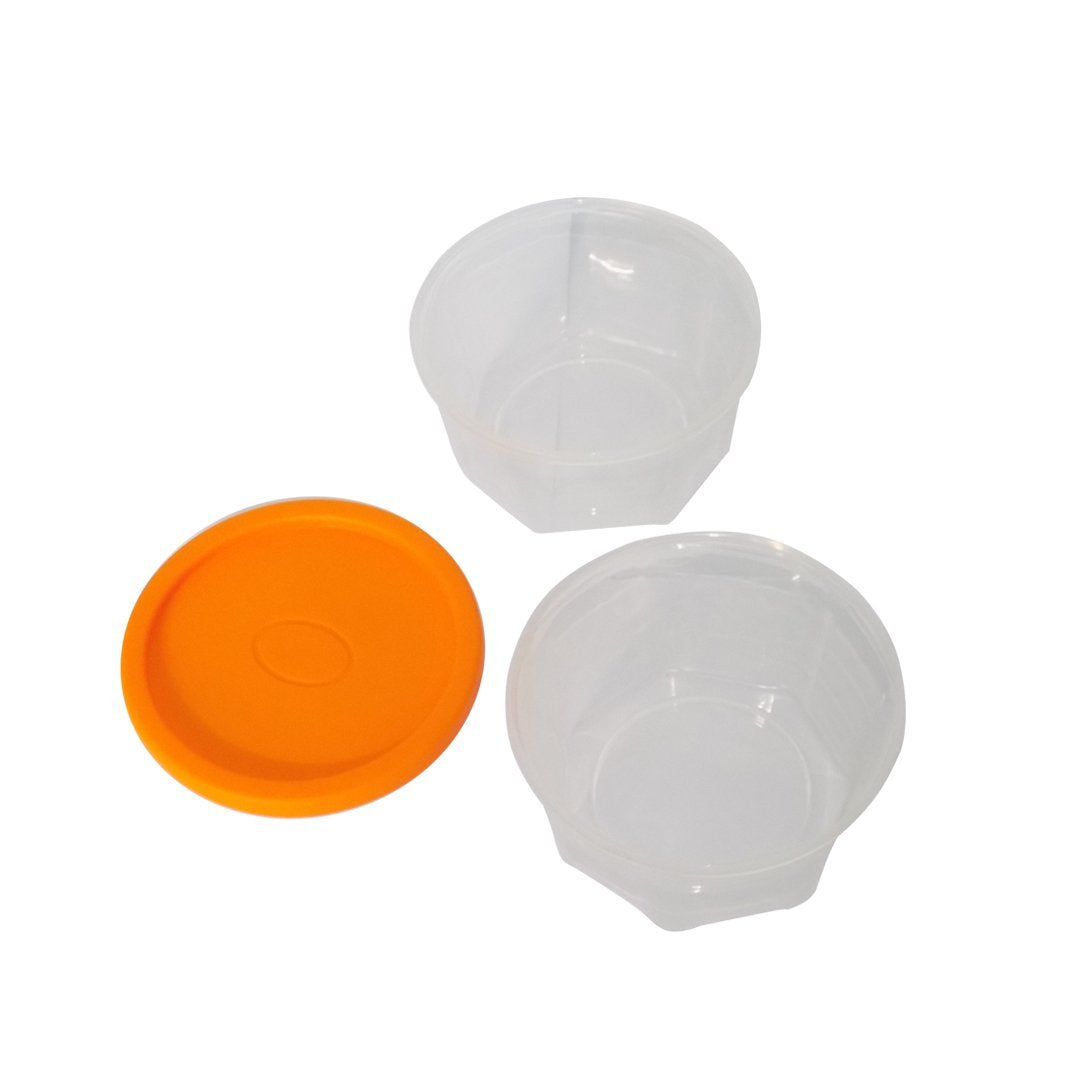 Plastic Container Set, 200ml, Set of 6