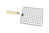 Kitchen Square Stainless Steel Roaster Papad Jali, Barbecue Grill with Wooden Handle
