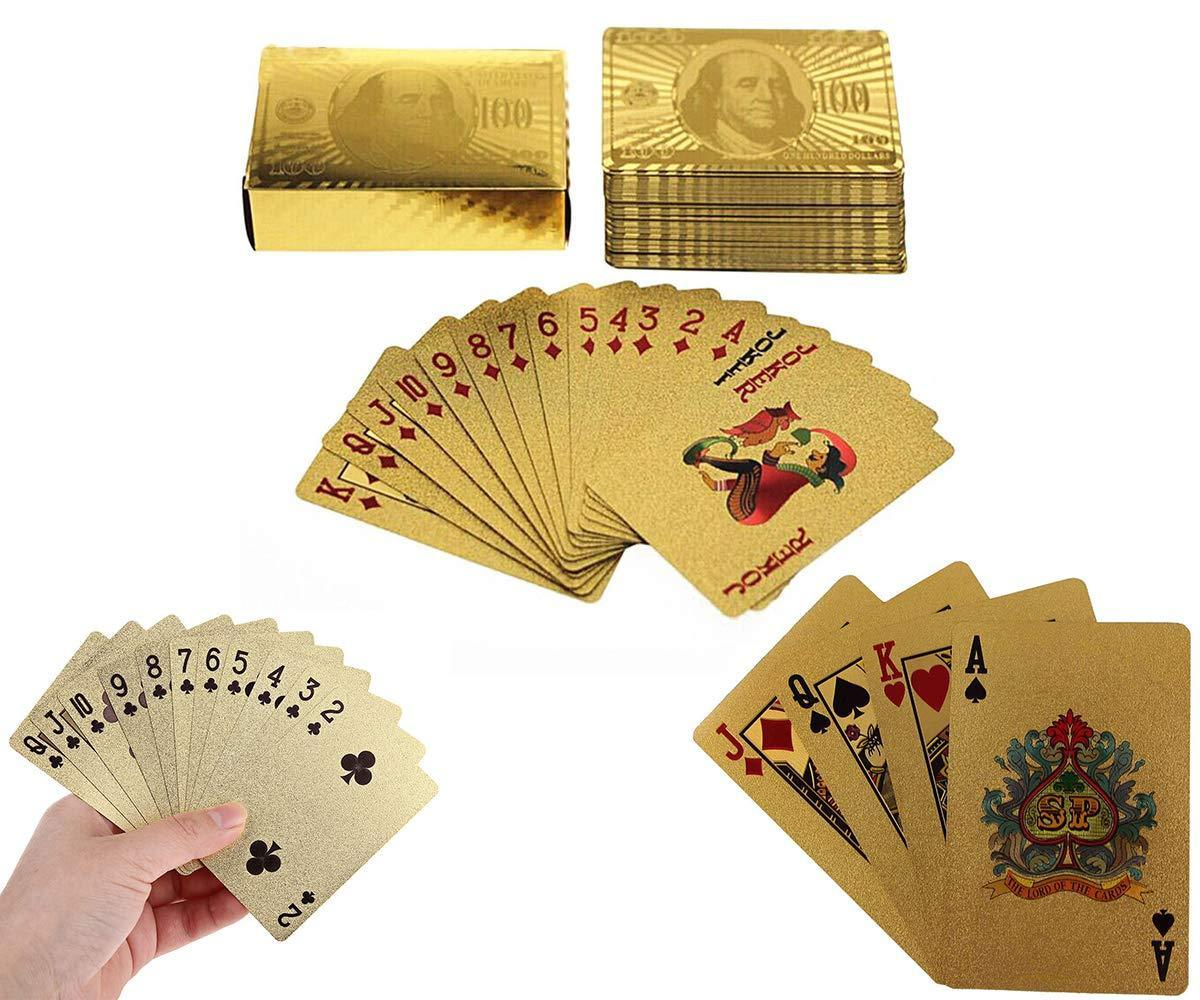 Gold Plated Poker Playing Cards (Golden)