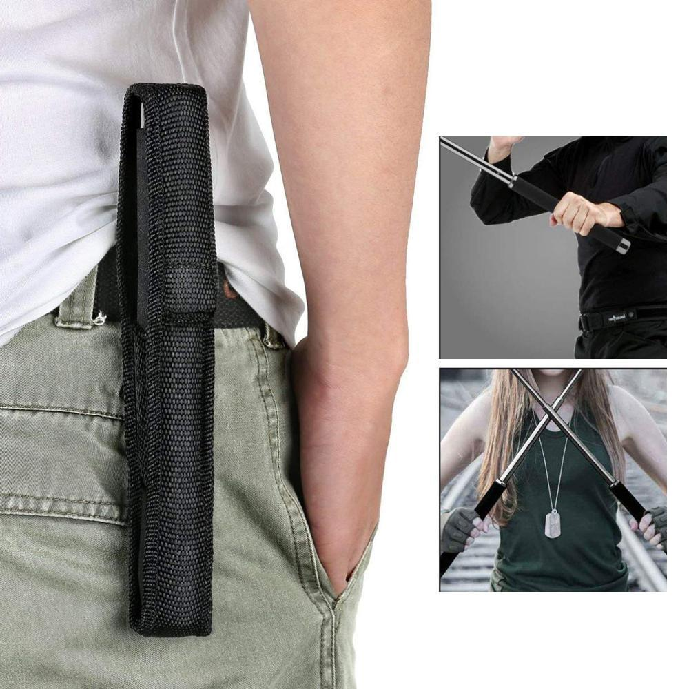 Multi-Function Collapsible  Self Defense Stick Extended