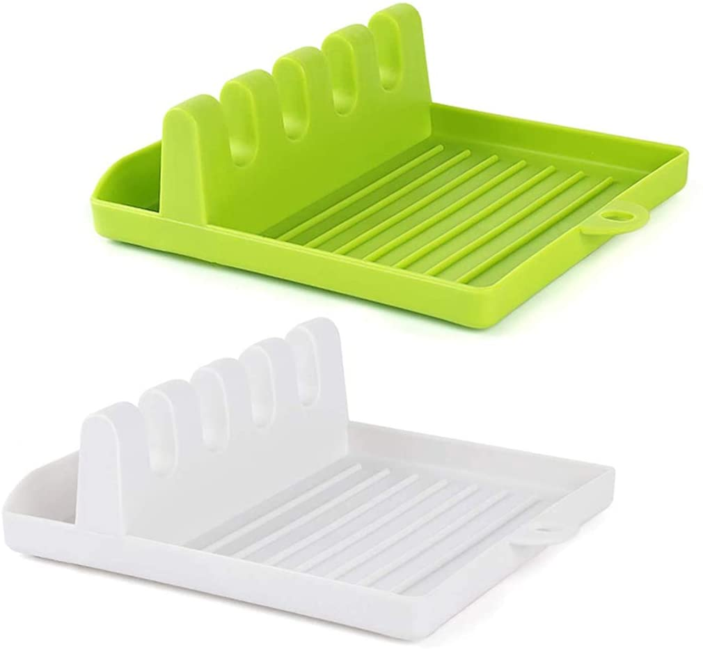 Multi-Functional Spatula Holder/Rest for Kitchen Utensils