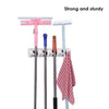 4-Layer Mop and Broom Holder, Garden Tool Organizer, Multipurpose Wall Mounted