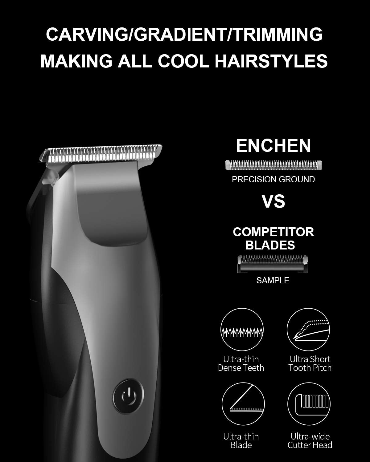 Hair Clippers Beard Trimmer for Men, Professional Mens Hair Trimmer with T Blade Close Cutting for Haircut Kit, Cordless & Corded Rechargeable Electric Trimmer for Men Kids Home Travel