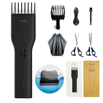 ENCHEN Hair Clippers for Men Professional Cordless Hair Beard Trimmer Mens All-in-one Hair Cutting Kit Electric Barber Clippers Rechargeable Haircut Machine Set for Kids Baby Home Travel,Black