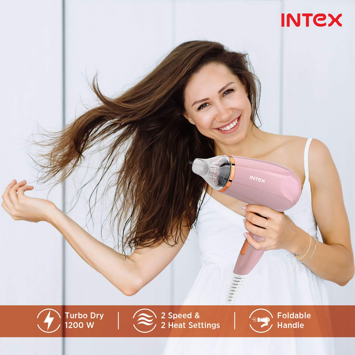 Intex HD1201 Hair Dryer (Pink)
