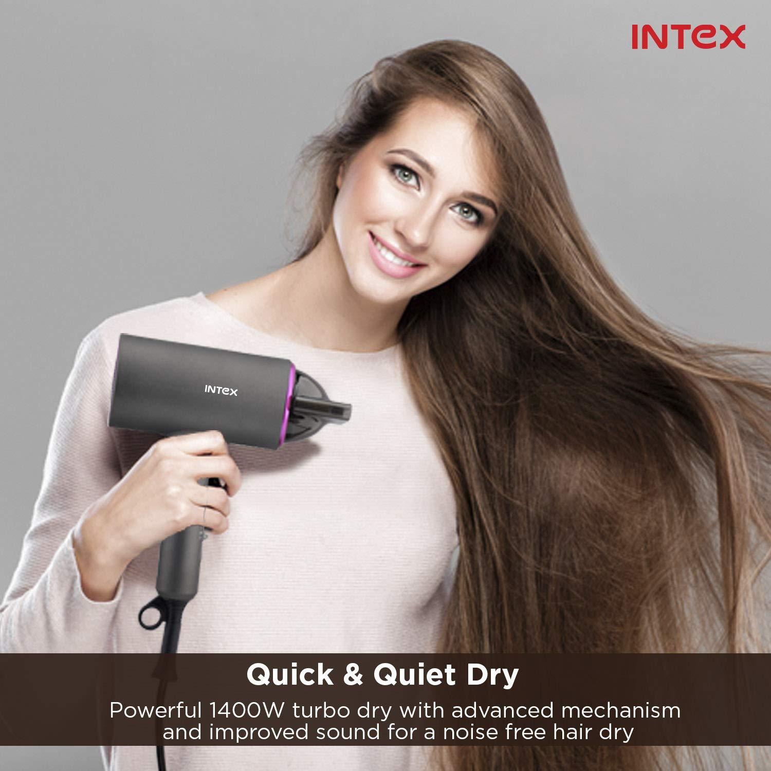 Intex Hair Dryer HD1402_Hair Dryer (Black)