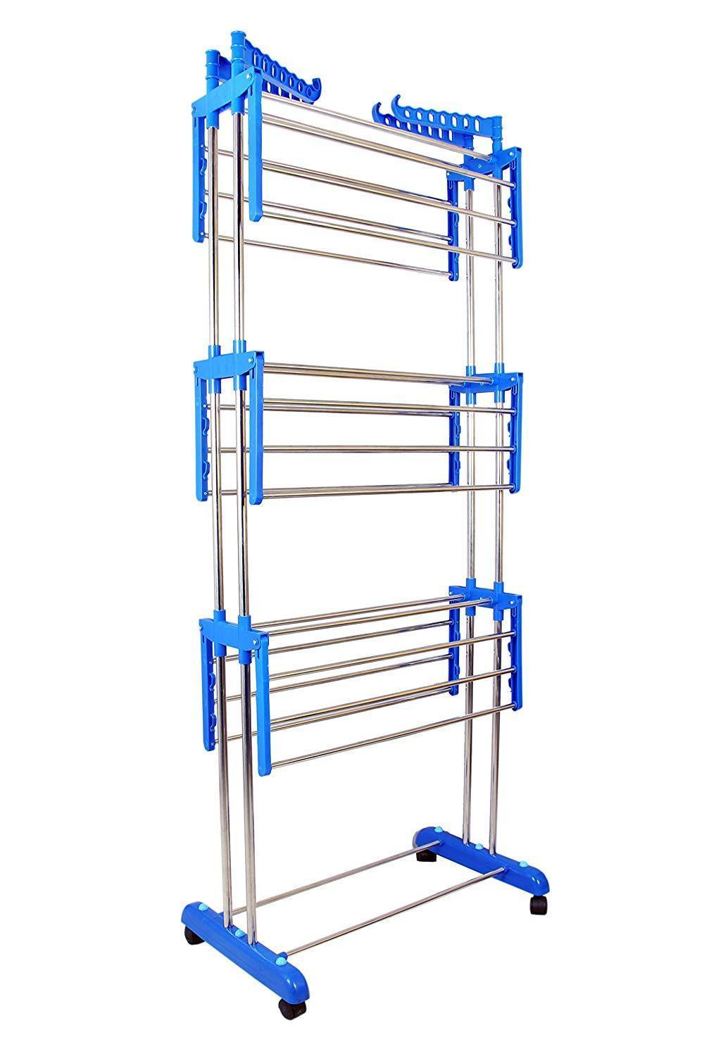 Stainless Steel Double Pole 3 Layer Cloth Drying Stand