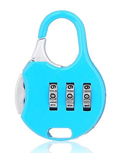 Stainless Steel Resettable Combination Padlock Round Shape