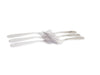 Stainless Steel Cutlery Set with Stand - Pack of 24(Silver)