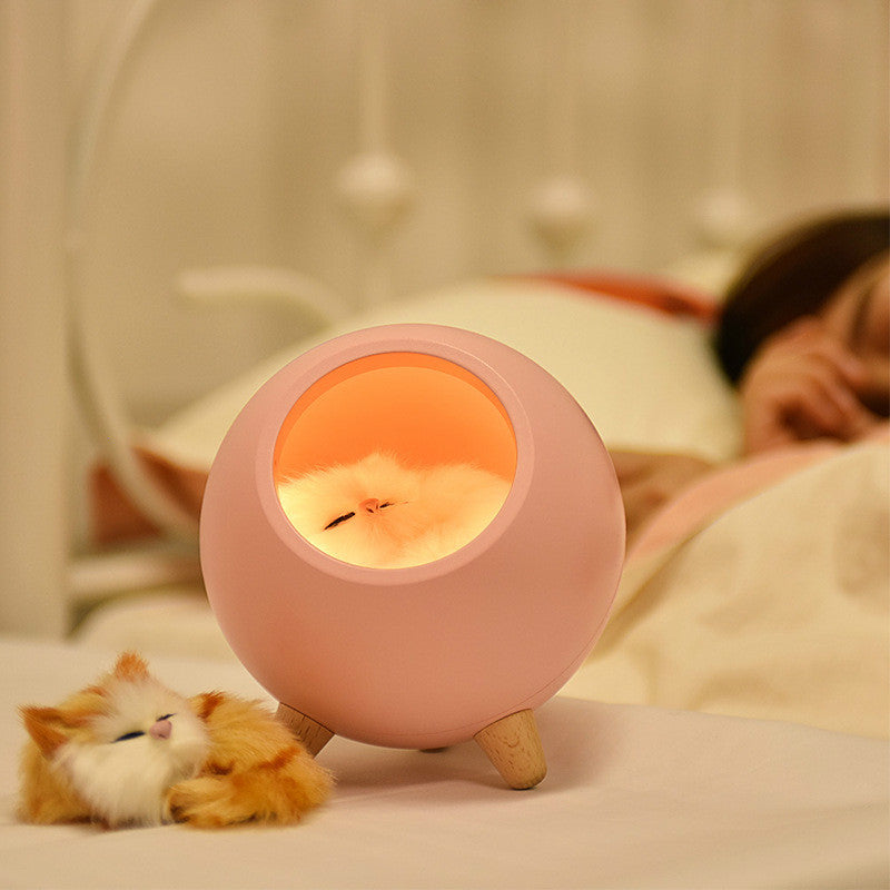 Night Light Led Home Bedroom Bedside Companion Sleeping Lamp Usb Charging Creative Cute Cat Table Light