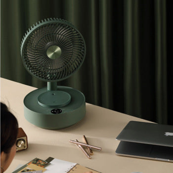 EDON E908 Telescopic Folding Electric Fan Easy to Storage Floor Desktop Pedestal Fan Remote Control Charging Large Home Office