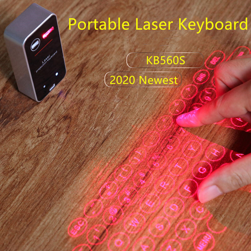 GuardBird KB56 Multimedia Laser Keyboard Mini Portable infrared Qwerty Projection Wireless Keyboard USB wireless Connect