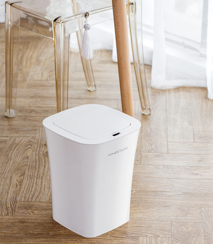 NINESTARS 10L Sensor Open Waste Bin Electric Automatic Inductive Trash Can IPX3 Waterproof ABS+PP OEM Available