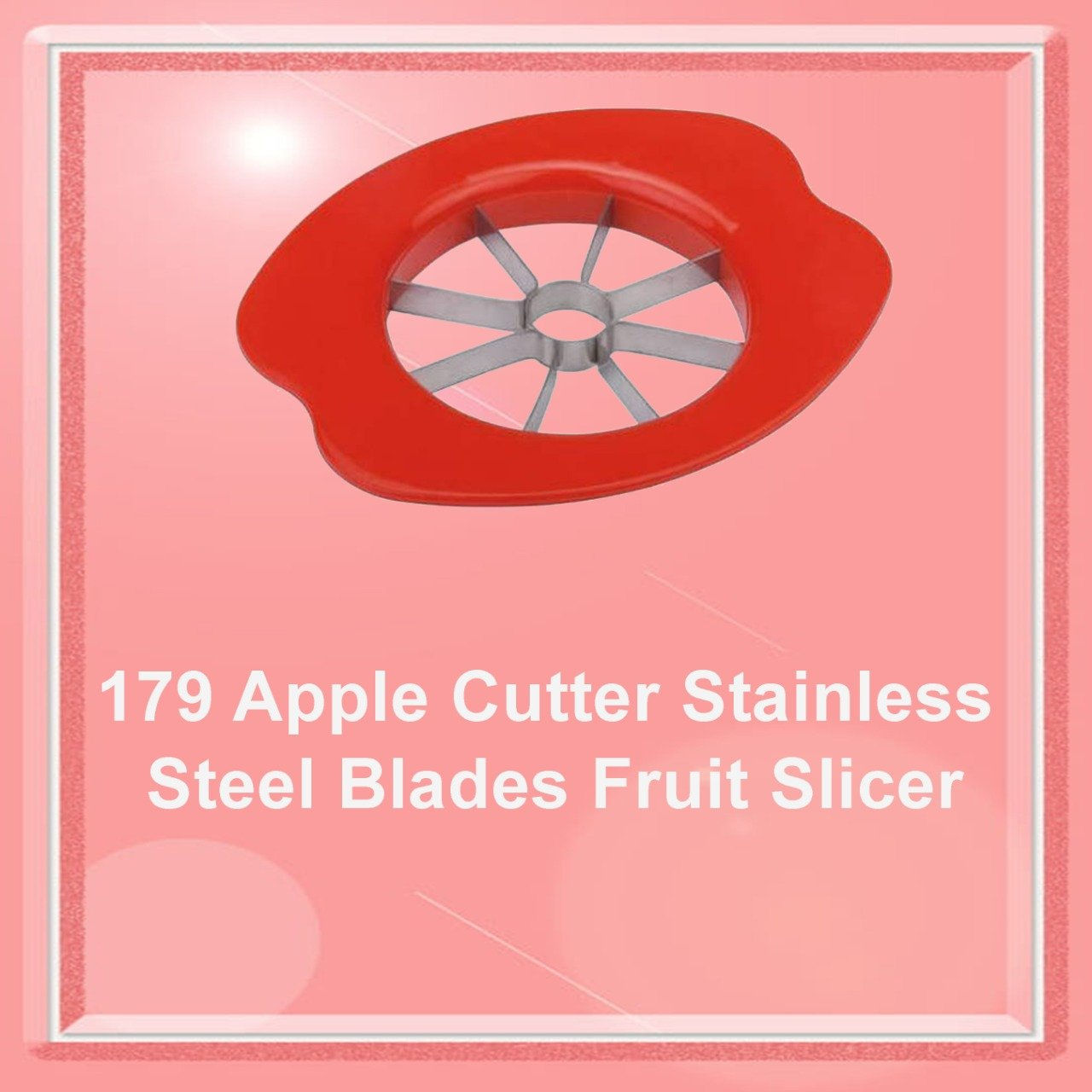 Apple Cutter Stainless Steel Blades Fruit Slicer