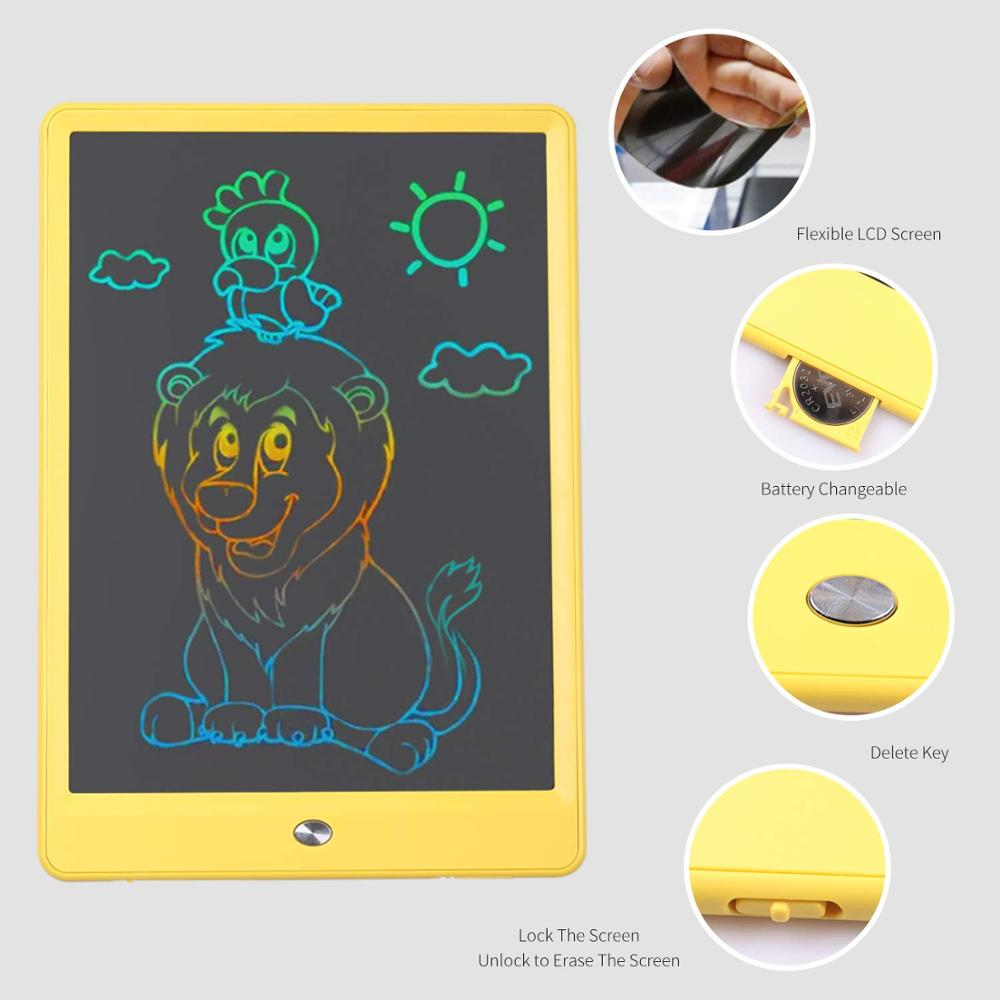 KONKA Writing Tablet 10 inch LCD Colorful Screen Drawing Tablet, Doodle Board and Writing Pads for Kids