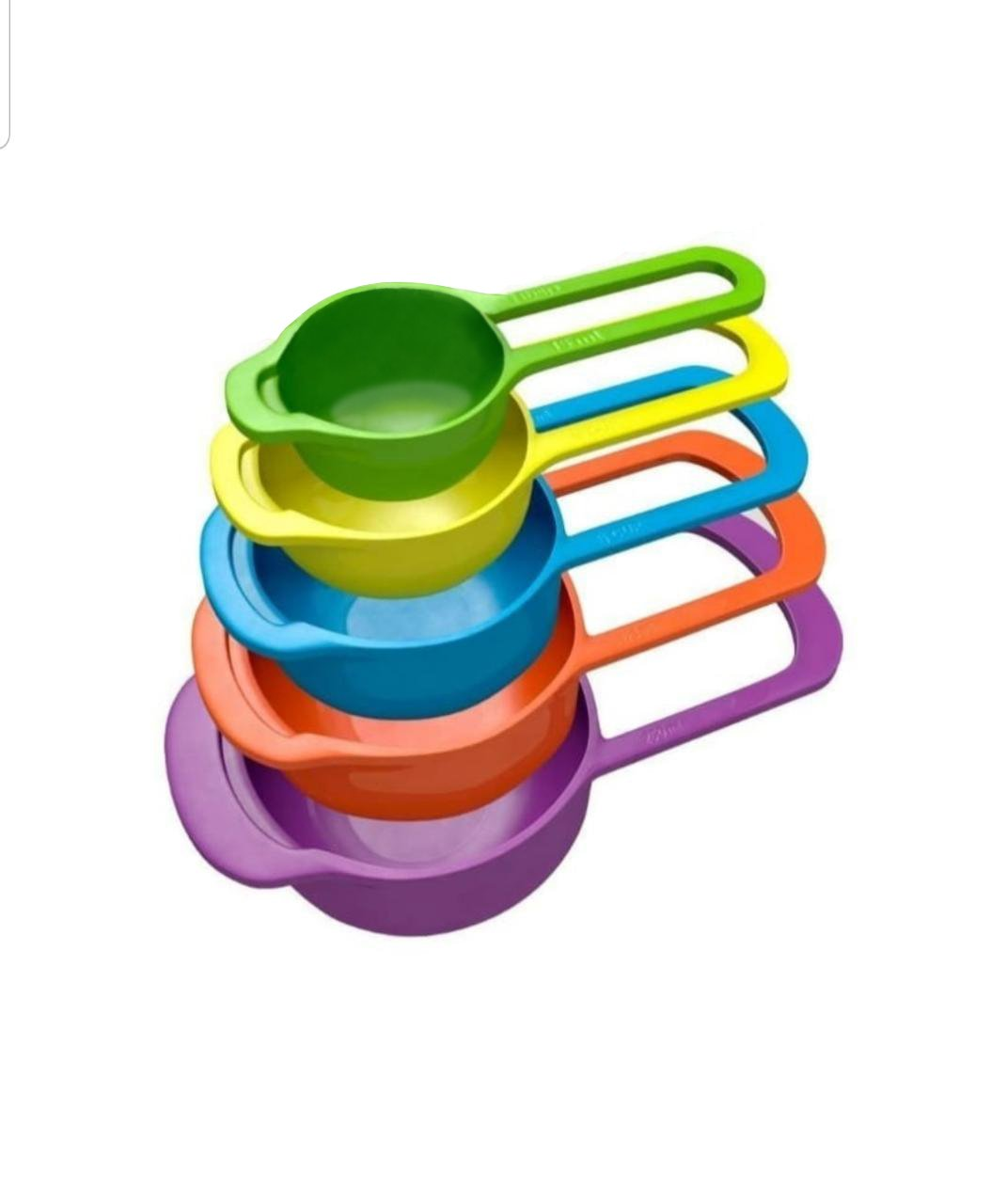 Big Plastic Measuring Spoons - Set of 5