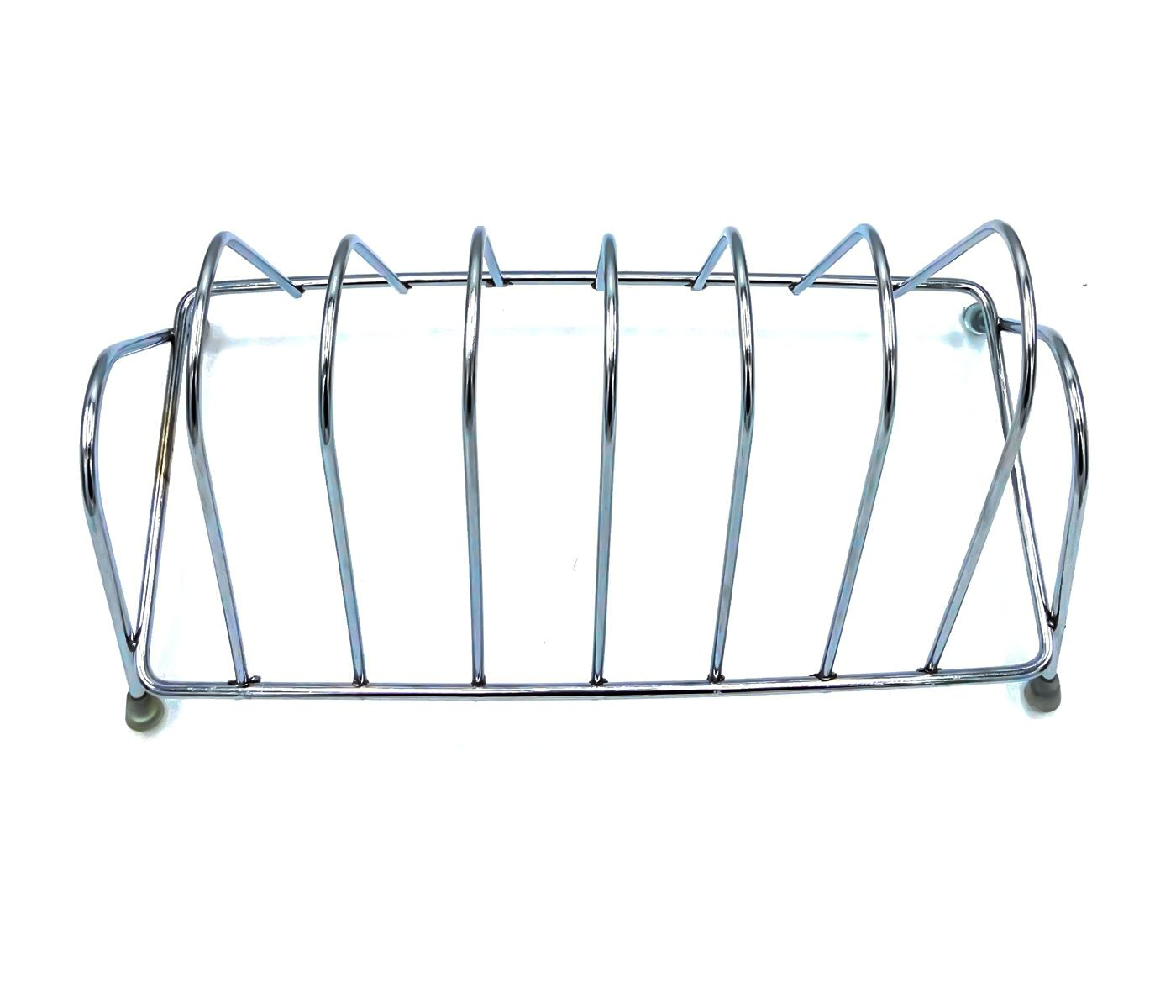Stainless Steel Square Plate Rack Stand Holder for Kitchen