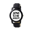 Unique & Premium Analogue Watch Apna Time Ayega Print Multicolour Dial Leather Strap (Watch 7)