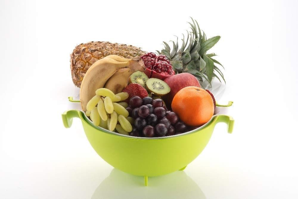 Multifunctional Washing Fruits & Vegetables Basket Strainer and Detachable Drain Basket Bowl