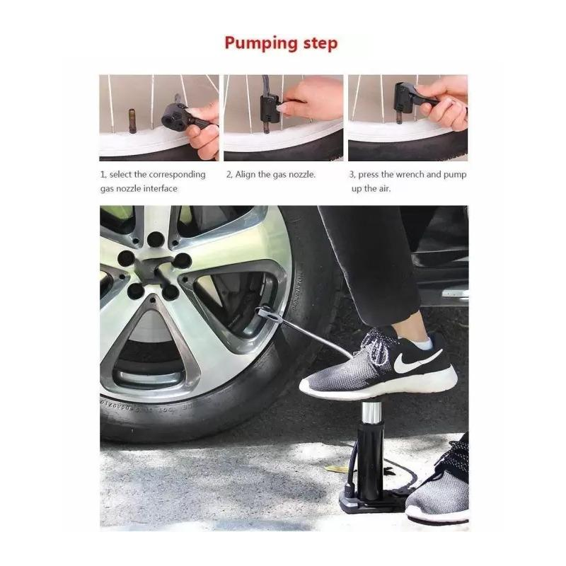 Mini Foot Pump Inflator For  Bike and car