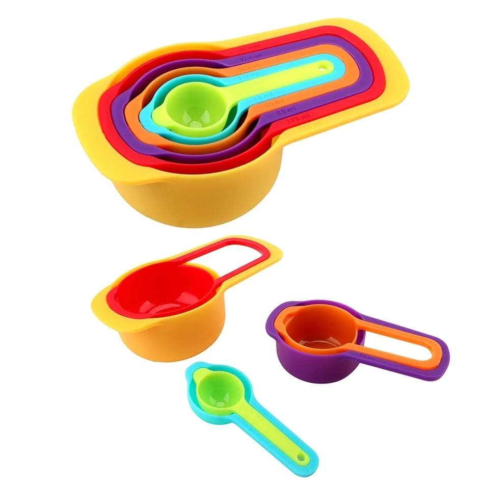 Plastic Measuring Spoons for Kitchen (6 pack)