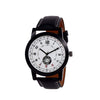 Unique & Premium Analogue Watch White Print Multi colour Dial Leather Strap (Watch 8)