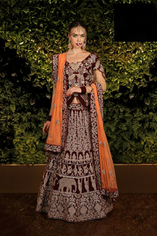 INDIAN EMPRESS VELVET LEHENGA