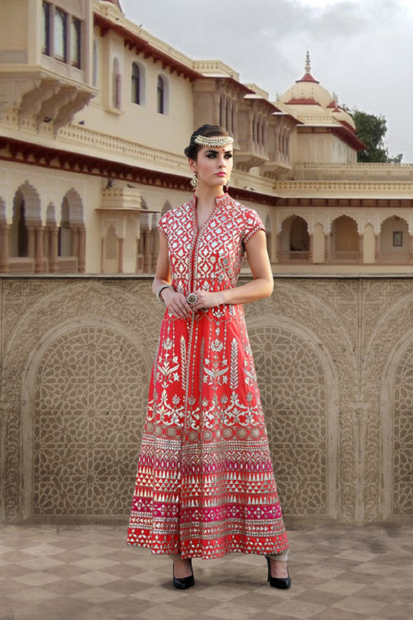 SAFFRON ORANGE ANARKALI