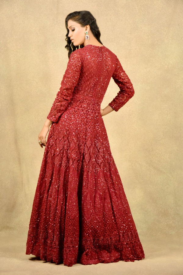 BEAMING RED SCARLET GOWN
