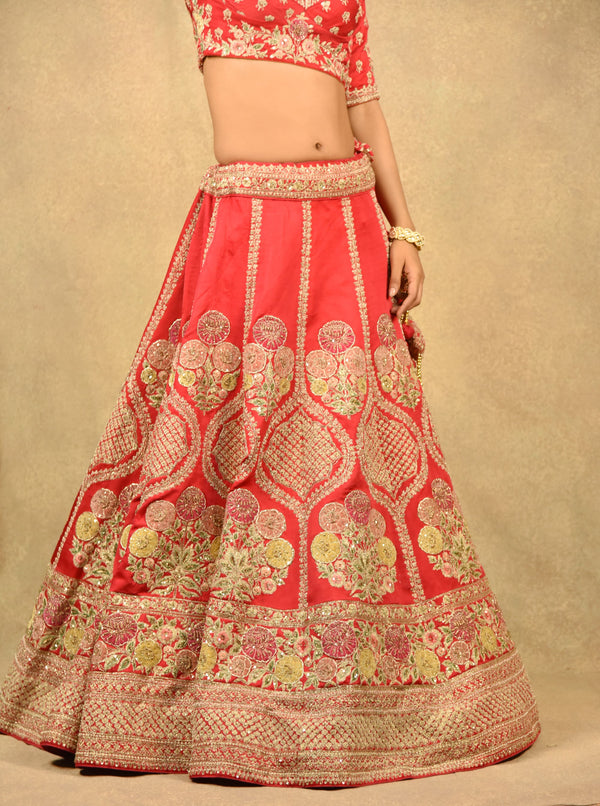 BLOOD RED ENCHANTRESS LEHENGA
