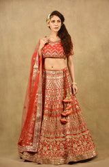 CRIMSON RED GODDESS LEHENGA