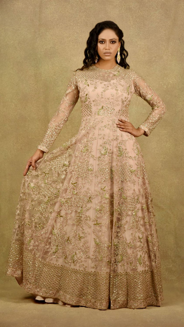 DUSTY PINK PANACHE GOWN