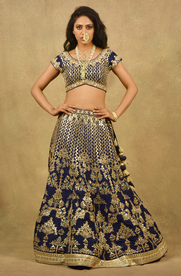 GULISTAN ROYAL BLUE LEHENGA