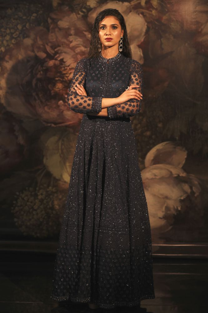 NAVY BLUE LAWAND GOWN
