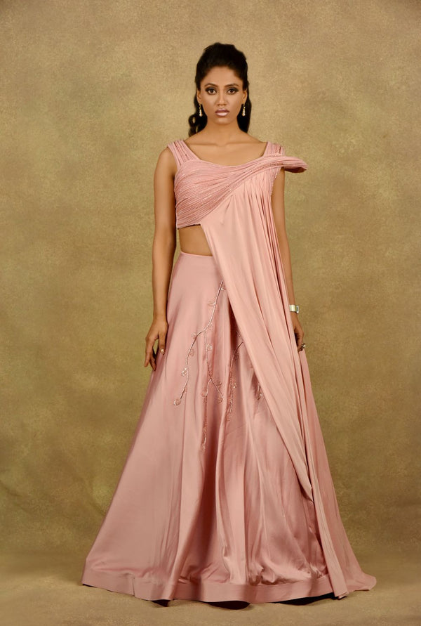 PLUSH-IN-PINK GOWN