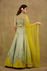 TESSELATED CHEVRONS LEHENGA