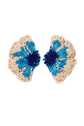 Lou Lou Earrings Blue Beige by Juan de Dios Swimwear