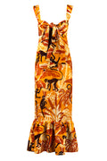 Lucia Dress Mustard Monkeys front by Juan de Dios Swimwear