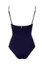 Malaga Onepiece Dark Blue back by Juan de Dios Swimwear