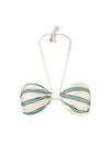 Maria Top Aqua Stripes Ivory front by Juan de Dios Swimwear
