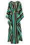 Morena Kaftan Dark Blue Stripes front by Juan de Dios Swimwear