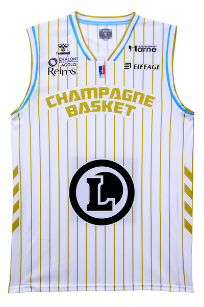 Maillot Domicile replica JUNIOR 2020-2021 du champagne-basket.