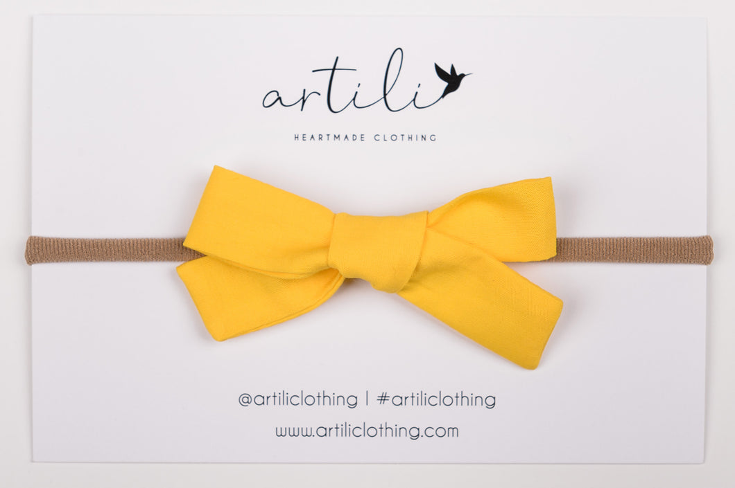 Mini Bow- Sun Kissed Yellow