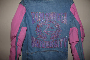 Zam Ghuden Pink Puff Sleeve Zg University jacket