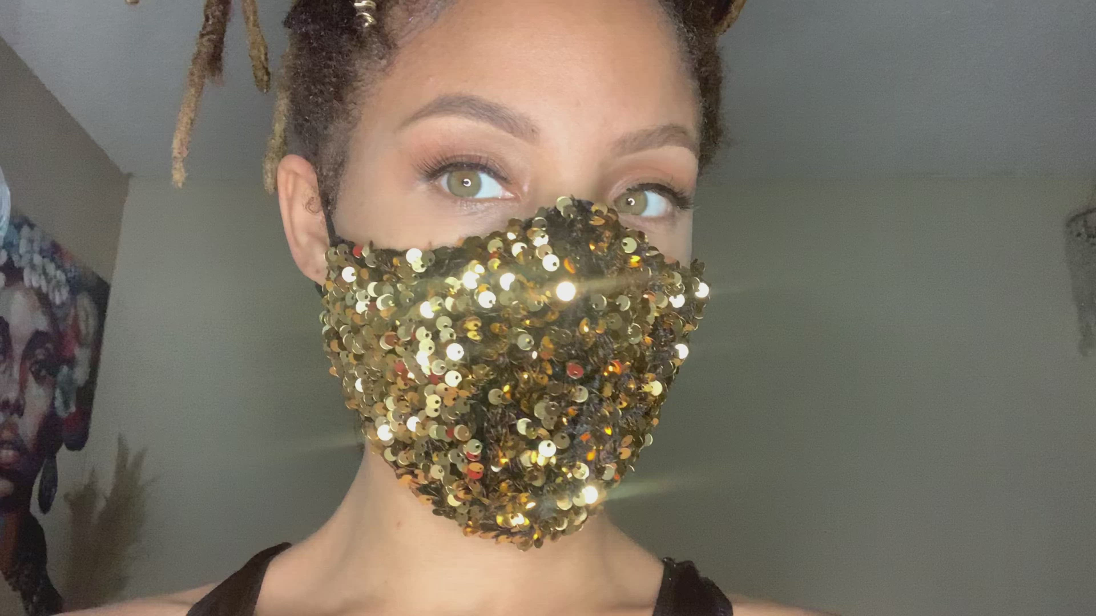 Gold Galaxy Face Mask