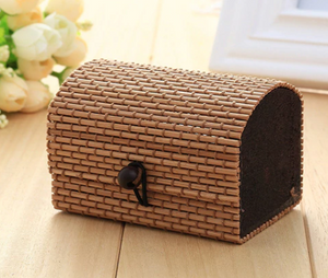 Vintage Bamboo Gift Box - Light Coffee
